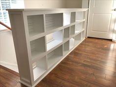 Split Level Foyer Bookshelf allowing light in