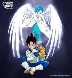 Bulma, Vegeta, Trunks, and Bulla Dragon Ball Gt, Dragon Ball Image, Anime Naruto, Zamasu Black, Otaku, Dbz Characters, Dragon Images, Fan Art, Manga
