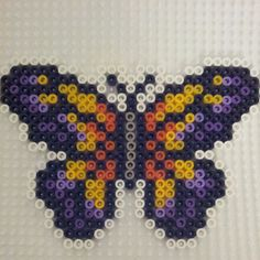 Butterfly hama perler beads by corinaaquamarina