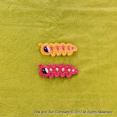 Ravelry: Caterpillar Applique pattern by Carolina Guzman