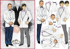 Groom and Groom Wedding Decoupage