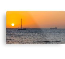 Sunset Over Port Phillip Bay Metal Print