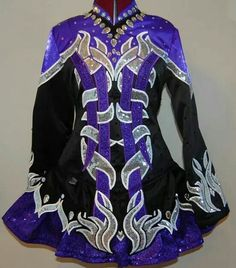 KDSF Irish Dance Solo Dress Costume -- Front --
