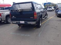Big Truck Driving Jerk Gets Parking Shamed with Chalk, But Wait…There's More! (Images) | Americans Against the Tea Party