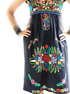 Mexican traditional [Aida Coronado - embroidered dress]