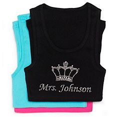 Personalized Mrs. Rhinestone Tank with Crown