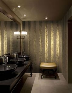luxury wallcoverings Luxustapete 22 Streifen Tapete Manhattan goldene Tapeten online kaufen