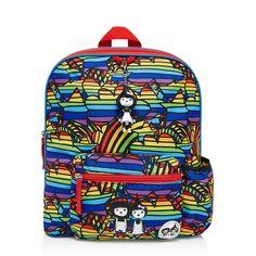 Zip and Zoe | Kid's Backpack Age 3+ Rainbow Multi