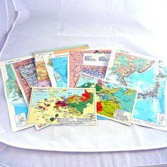12 vintage maps ephemera for scrapbooking smash books art cards or vintage world maps ephemera pack smash books heritage scrapbooking art cards and art journals gumiabroncs Choice Image