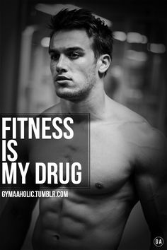 Fitness is my drug. Yes I'm an addict to the gym ! http://www.gymaholic.co