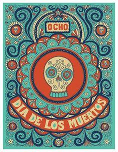 DIA DE LOS MUERTOS ☠~Day of the Dead~ illustration - Mishka Westell