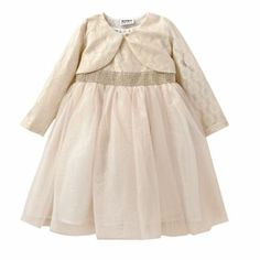 Blueberi Boulevard Glitter Dress and Shrug Set; bought in 18months (for Chase) and 4T (for Samira)