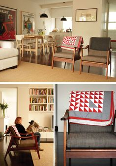 Beautiful Scandinavian chairs.  http://thedesignfiles.net/2010/10/melbourne-home-olivia-tipler-of-mozi/?utm_source=feedburner&utm;_medium=feed&utm;_campaign=Feed%3A+TheDesignFiles+%28The+Design+Files%29