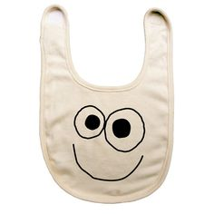Organic cotton baby reversible bib with screen by BuggedOut