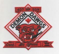 Royal Canadian AIR Force 407 SQN Demon Dawgs Patch CP 140 | eBay