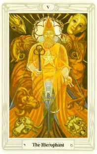 August 13 Tarot Card: The Hierophant (Crowley deck) Growth and freedom do not come from resisting and simply standing still