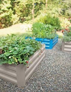 "34"" Corrugated Metal Garden Bed | Gardener's Supply Co."