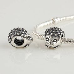 925 Sterling Silver Screw Hedgehog Animal Bead For European Jewelry Charm Bracelets on Etsy, $21.38