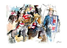 Sketching the Chilean Rodeo Championship | Urban Sketchers