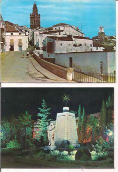 Jerez de los Caballeros,Torres de San Miguel , Reloj y Badajoz Monumento al heroe caido no circulada
