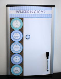 Cubicle Decor – DIY Office Away Board ‹ Cicy Guimond