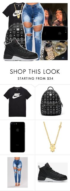 """""""12/5/17"""" by g-herbo ❤ liked on Polyvore featuring NIKE, MCM and Sydney Evan"""