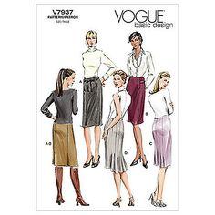Buy Vogue Women's Basic Design Skirts Sewing Pattern, 7937 Online at johnlewis.com