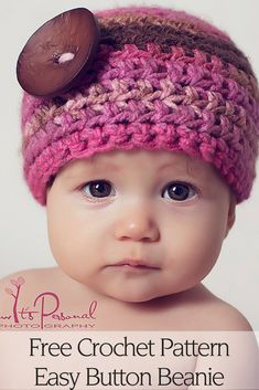 Free Crochet Pattern - The easy and elegant crochet hat pattern is perfect for all ages and genders. Includes 7 sizes for babies, toddlers, kids, women, and men! It's a very easy crochet pattern that's perfect for beginners. By Posh Patterns.