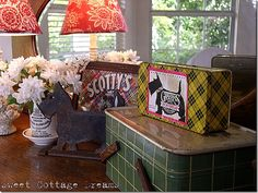 Little vignette in our kitchen. From Becky at Sweet Cottage Dreams