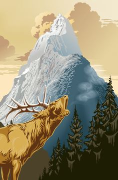 Ideal Decor King of the Mountain Wall Mural