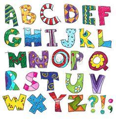 Vektor: ABC. Kids funny alphabet, vector