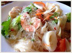 Spicy noodle salad or Spicy vermicelli salad