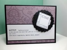 Handmade Mothers Day Card, Stampin Up Sweet Laughter