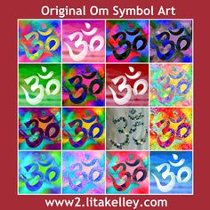"Beautiful Om symbol art by Lita Kelley, available in several sizes and colors on your choice of canvases, specialty papers and other materials.  #Om #Aum #OmSymbol #Art #FineArt #Yoga #Buddhism #Hinduism #Meditation #ॐ  AUM or Om (Sanskrit: ॐ) is a sacred sound and a spiritual icon in Indian Dharmic religions. It is also a mantra in Hinduism, Buddhism and Jainism.  View the entire collection of <a href=""http://www2.litakelley.com/collections/om+symbol"">Om Symbol Art</a>"