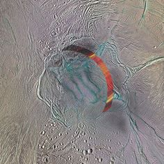 Saturn moon's hidden ocean could be a good place for a warm bath     - CNET  Enlarge Image  The south pole region of Enceladus highlighted by a bright band indicating the area of study.                                                      NASA/JPL-Caltech/Space Science Institute; Acknowledgement: A. Lucas                                                  The closer we look at Saturns icy moon Enceladus the more the data seems to thaw the notion that its just a big striped snow ball.   A new…