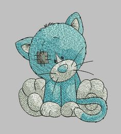 Kitty embroidery design
