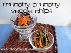 fried and dehydrated veggie snacks top image Green beans from Costco tossed with olive oil and salt are good dehydrated...