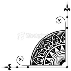 Vectorized Ornamental Corner Royalty Free Stock Vector Art Illustration