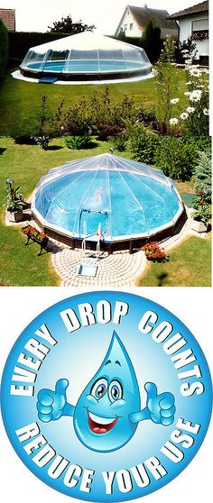 The crystal clear cover is heat-sealed to fit the tubes based on pool specifications, to provide a tailored fit for every pool size. For an above ground pool it would take 2 people about 2 or 3 hours to put up. Inground Pool Diy, Diy Pool, Swimming Pool Designs, Swimming Pools, Above Ground Pool Cover, Small Greenhouse, Greenhouse Ideas, Oval Pool, Love Your Home