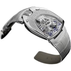 Urwerk has just released their first ladies' watch, the Lotus, and it does not disappoint. The new Lotus watch exemplifies that same creativity and complexity that Urwerk has been known for since its founding in New Lotus, Latest Watches, Smart Watch, Jewelry Accessories, Steel, Gifts, Wrist Watches, Diamonds, Dreams