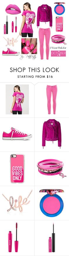 """""""#iwearpink #October"""" by potatokitty ❤ liked on Polyvore featuring Metal Mulisha, J.Crew, Converse, Lanvin, Casetify, Kobelli, MAC Cosmetics, Sigma, MAKE UP FOR EVER and Religion Clothing"""
