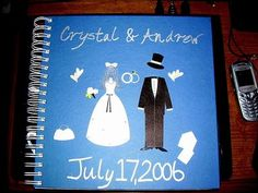 Scrapbook for the bride! Have each bridesmaid, mother of the bride, etc write a letter and include pictures. Perfect to read at a shower or when getting ready the morning of the big day. On the last page have a letter from the groom =) Super cute! When I Get Married, I Got Married, Wedding Events, Our Wedding, Dream Wedding, Disney Inspired Wedding, Marrying My Best Friend, Wedding Scrapbook, Marry You