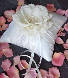 Simple White - Wedding Ring Pillow?