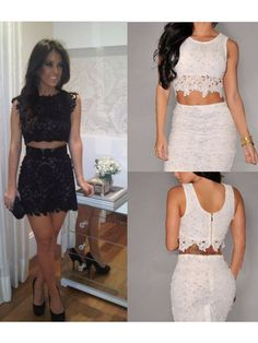 Two piece dresses short tight cocktail
