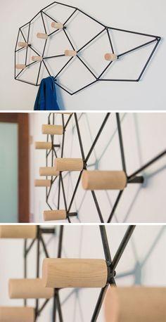 Metal Wall Mounted Coat Rack Foter Foyer In 2019 Pinterest