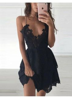 Sexy Party Dress, V Neck Party Dress, Black Lace Party Dress, Homecoming Dress Lace, Black Homecoming Dress Prom Dresses 2019 Lace Homecoming Dresses, Black Party Dresses, Hoco Dresses, Black Wedding Dresses, Sexy Party Dress, Elegant Dresses, Sexy Dresses, Cute Dresses, Evening Dresses