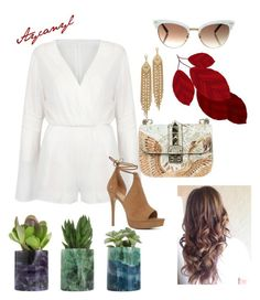 """Başlıksız #55"" by aycanzen ❤ liked on Polyvore featuring WithChic, Valentino, Capwell + Co, Gucci and ALDO"
