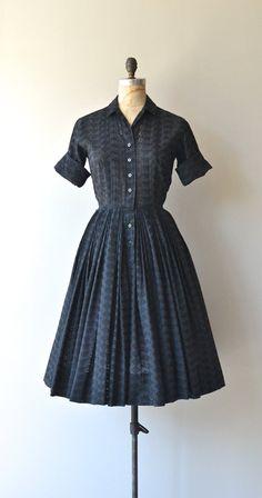Best Company dress vintage 1950s dress black by DearGolden