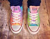 TIE DYE CONVERSE Pastel Rainbow Custom Tie Dye Converse