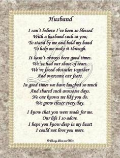 A father's day poem to my husband - Google Search
